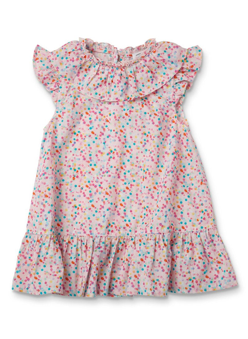 Poppies Flossey Frill Dress - by Walnut