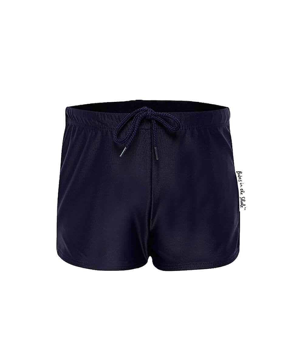NAVY SWIM TRUNKS - BABES IN THE SHADE