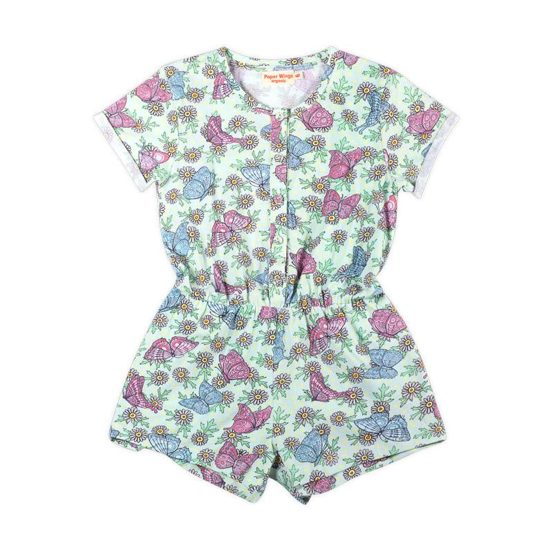 T-shirt Romper - Butterfly Daisies by Paper Wings