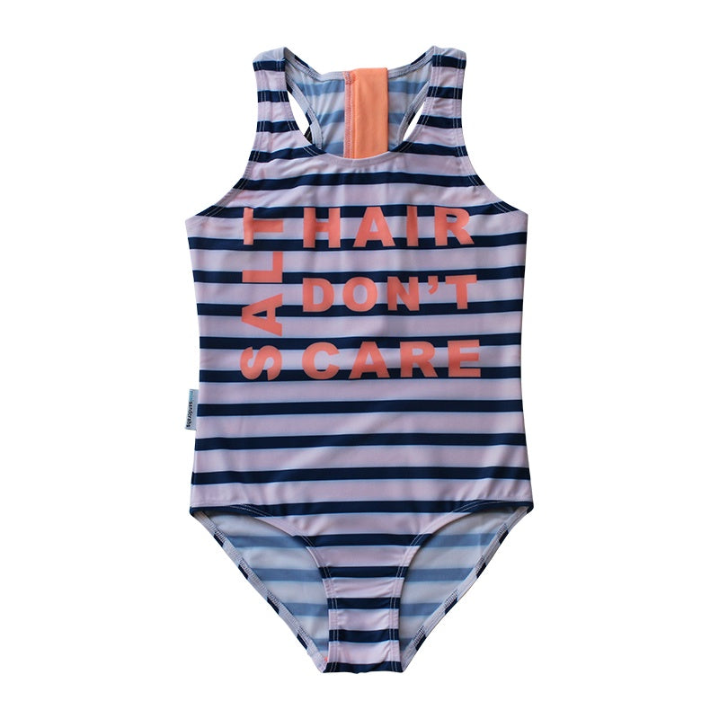 SPORTY ZIP ONE PIECE SWIMSUIT - GIRLS SPORT