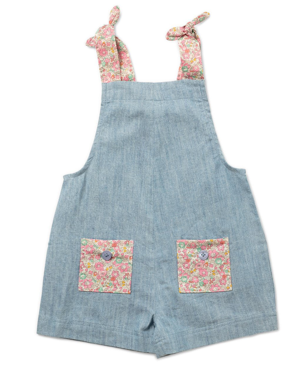 Petal Romper Liberty Fabric - Chambray - by Walnut