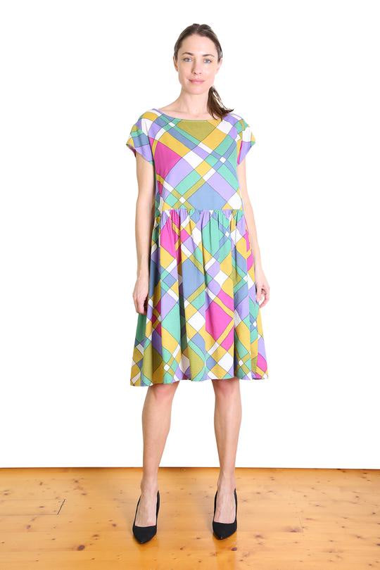 Peggy Sue Seer Drop waist Dress