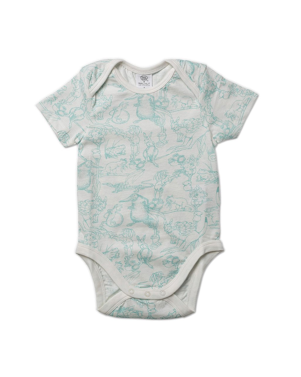May Gibbs Wren Onesie - Bush Dance Sage