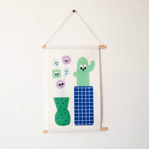 Guimo Wall Hanging - Cactus pennant