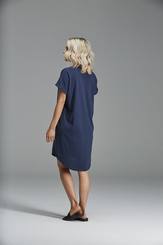 Frankie Dress Organic Cotton - Navy
