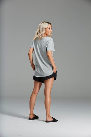 SANDI TEE, ORGANIC COTTON GREY
