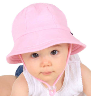 Girls Baby Bucket Hat - Blush Pink