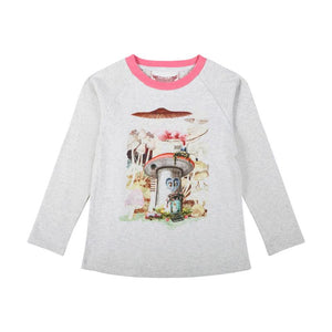 Paper Wings Long Sleeve Raglan T-shirt - Mushroom House