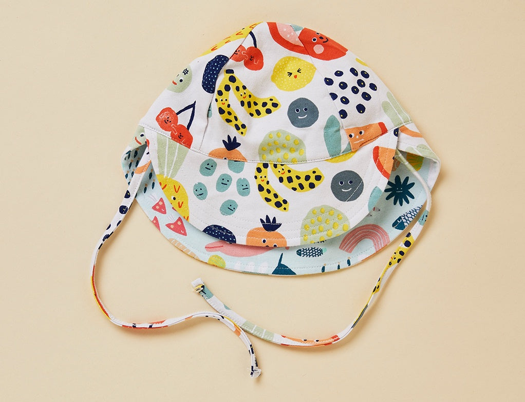 FRUIT TINGLE - REVERSIBLE SUN HAT