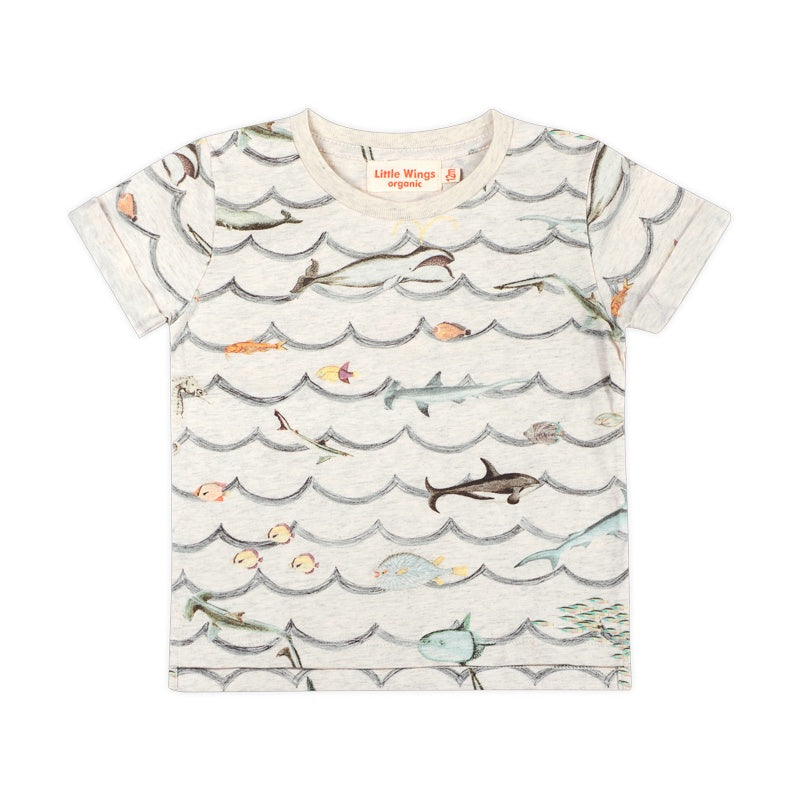 Cuff T-shirt - Animal Wave