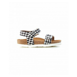 Walnut Prato Sandalia Black/White Gingham