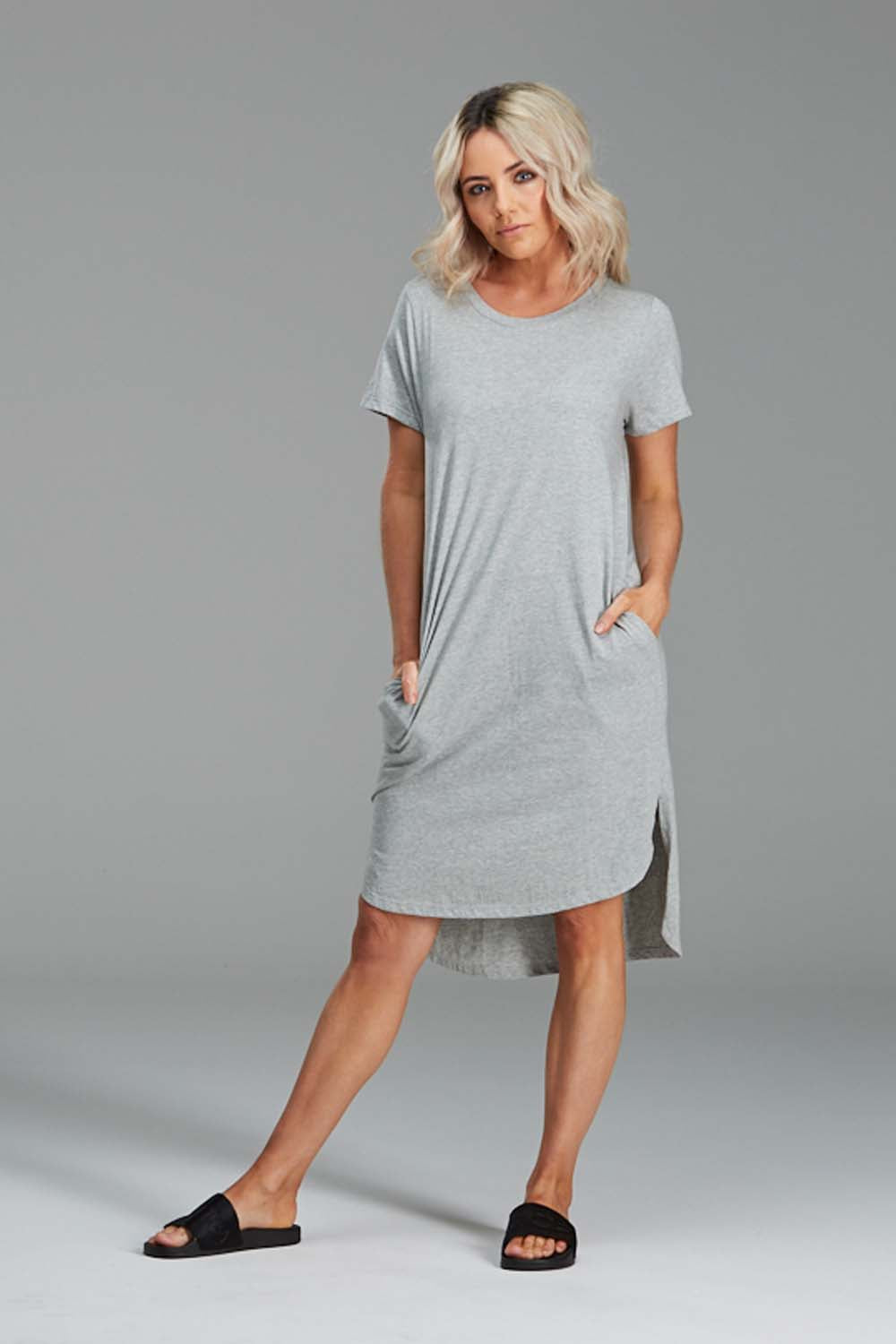 DAISY DRESS, ORGANIC COTTON GREY