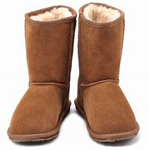 Wallaby Lo Kids Deluxe Wool Boot - Chestnut