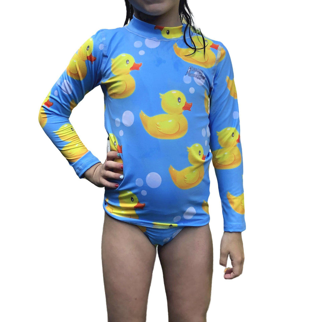 Rubber Ducks Kids Long Sleeved Rash Vest
