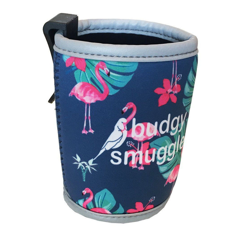 Flamingo Stubby Holder with Clip