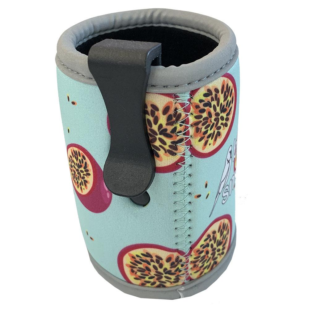 Passion Fruit Stubby Holder with Clip