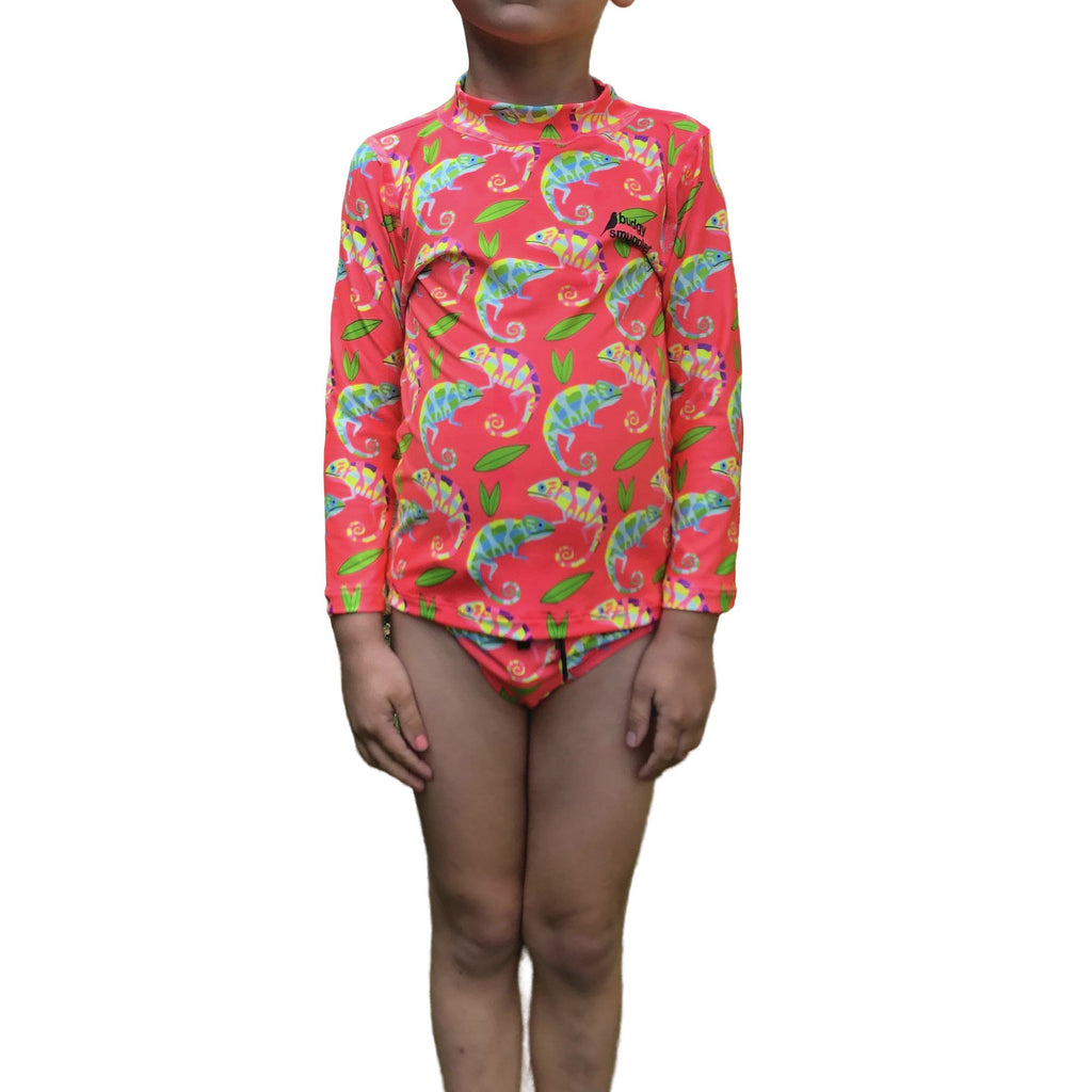 Chameleon Kids Long Sleeved Rash Vest