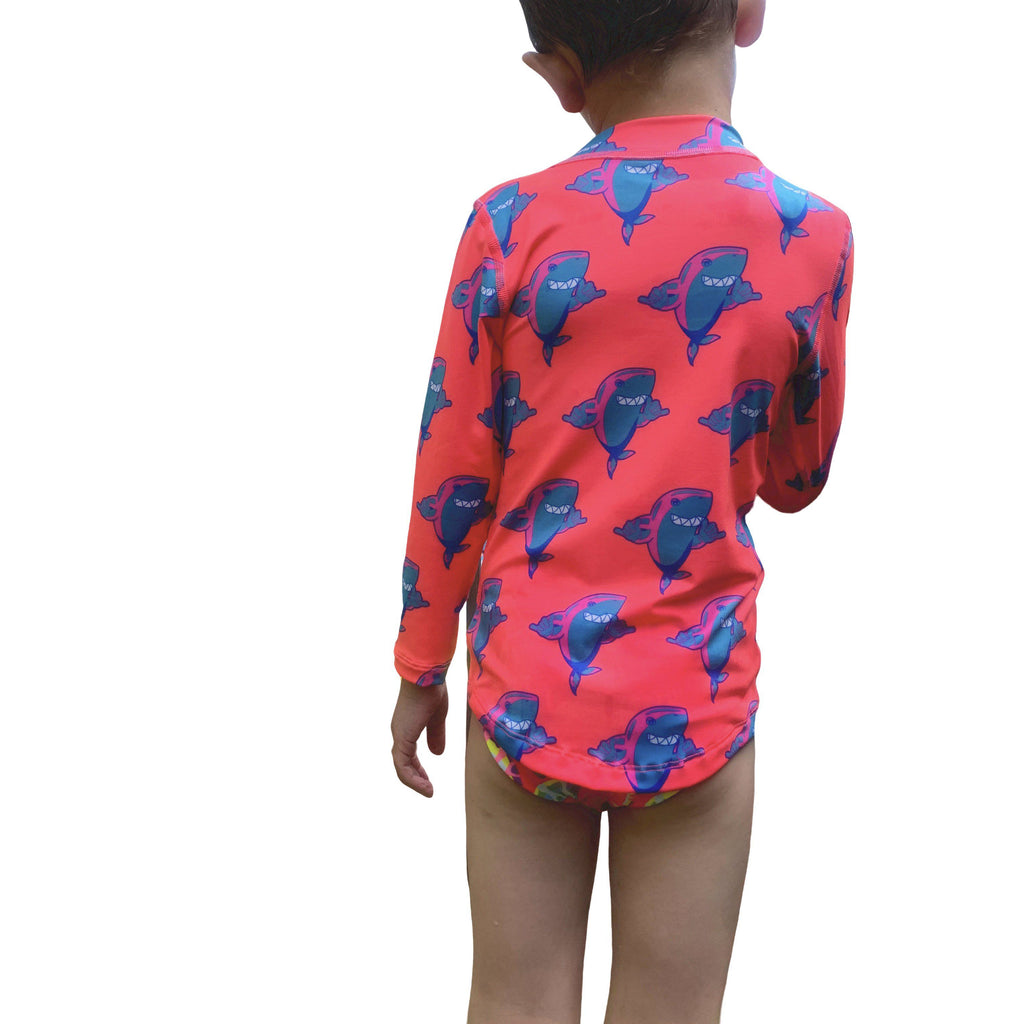 Sharkas Kids Long Sleeved Rash Vest