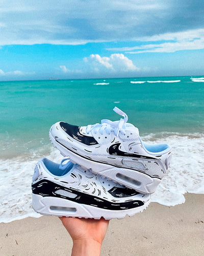 Black and White Cartoon Air Max 90