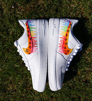 Sunset Swoosh x Rainbow Drip