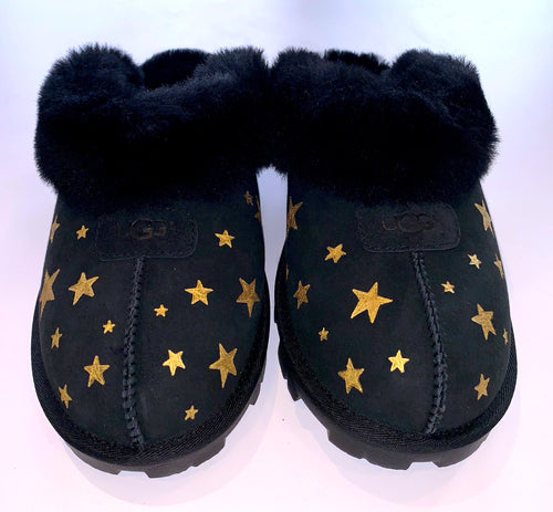 Golden Star Black Slipper