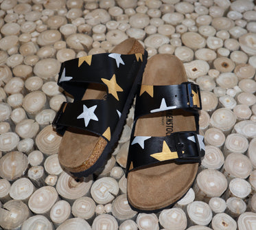 Black & Metallic Star Birks
