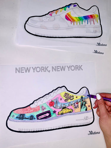 Printable E-Coloring Book: The Sneaker Edition Part I