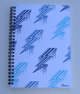 Blue Bolts Spiral Notebook