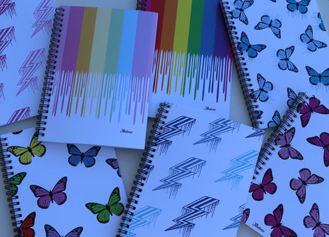 Pack of 7 Spiral Notebooks