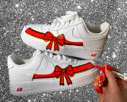 Holiday Bow Sneakers