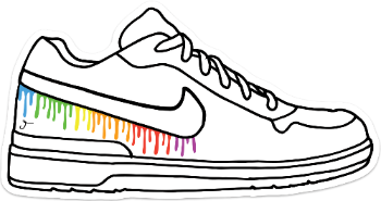 Rainbow Drip Sneaker Sticker
