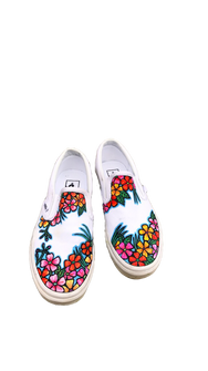 Tropical Flower Print Custom Sneaker