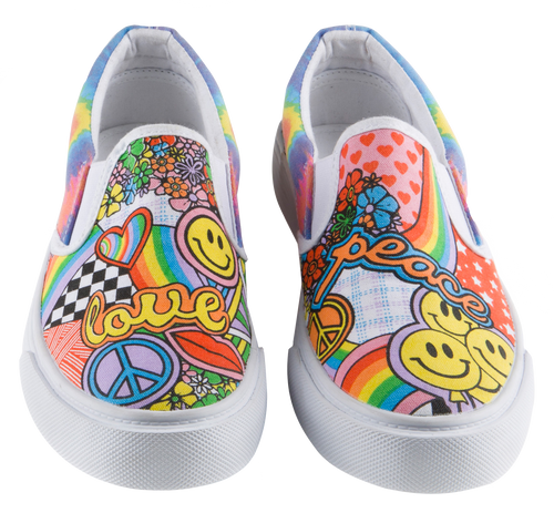 Peace and Love Sneakers