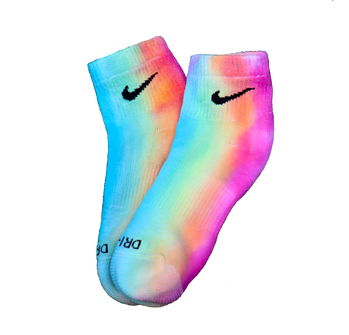 rainbow tie-dye ankle socks