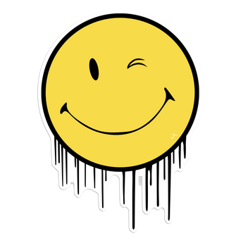 Smiley Face Drips Sticker