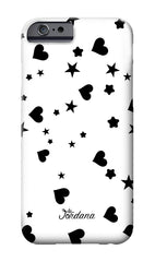 Stars and Hearts Inverse Phone Case