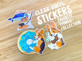 Clear Vinyl Stickers Favorite Things Collection