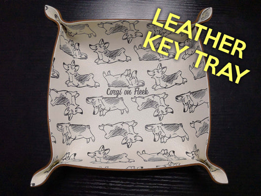 Corgi On Fleek Genuine Leather Valet Tray [Special Limited Edition]