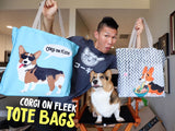 Corgi On Fleek Canvas Tote Bag