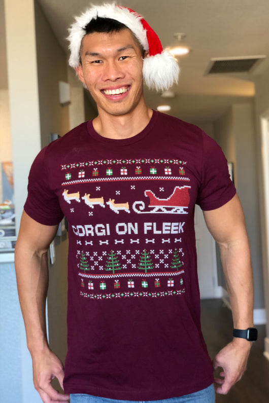 Corgi On Fleek Christmas T-shirt [Limited Edition]