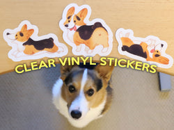 Corgi On Fleek Clear Vinyl Stickers V.2