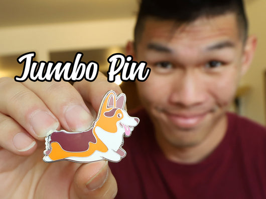 Jumbo Collectible Corgi Pin