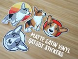 Matte Satin Vinyl Gatsby Stickers