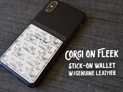 Corgi On Fleek Stick-On Leather Wallet