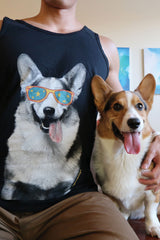 Gatsby Corgi Tank Top [Limited Edition] - Black