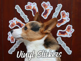 Corgi On Fleek Vinyl Stickers