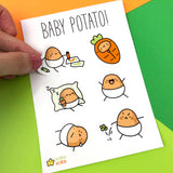 Baby Potato Sticker Sheet A6