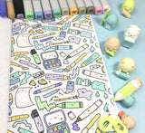 KiraKira Coloring Book - Kawaii Doodle Coloring Fun!