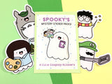 Spooky's Mystery Sticker Packs! - 4 Cute Cosplay Stickers