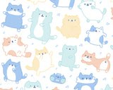Kitty Dance Off! Kawaii Cat Doodle Art Print